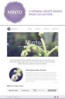 Minto - A Free Minimal Website Design Template PSD by cssauthor