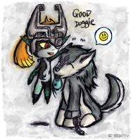 Link and Midna by Sifty
