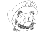 mario sketch by ZoeTheHedgehog