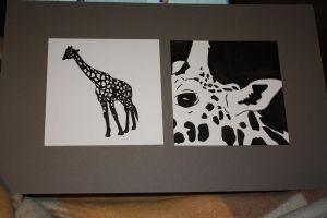 Mounted Giraffe Pieces by Kristy-Kitty