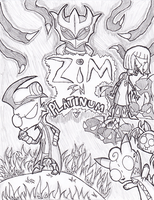 Zim in Platinum Cover by JailbotNinetales