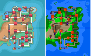 Pokemon Land and Sea- Noratia and Kanto by SonarSnow