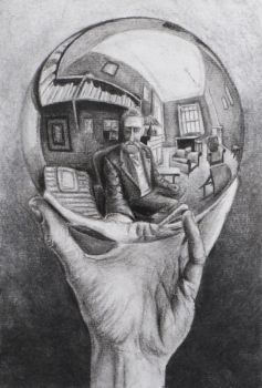 Hand with Reflecting Sphere by Suraj28