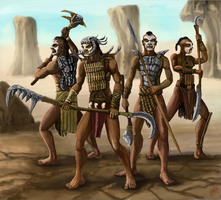 Tribal warriors by Crowsrock