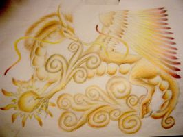 Usha the Sun Dragon by mayle128