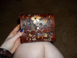 Golden butterfly pouch by Ceraine
