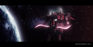 Scimitar Gundam in Space by UEGProductions