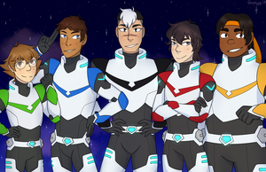 Voltron Print: Pose As a Team! by ghostyjpg