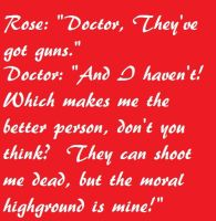Doctor Who Quote 4 by ImLittleKasey