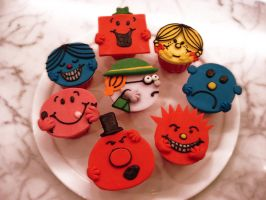 Mr Men Little Miss Cupcakes by Sliceofcake