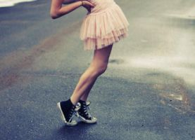 Dress And Converse by annabellemary