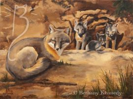 Fox den by FuzzyCreaturePainter