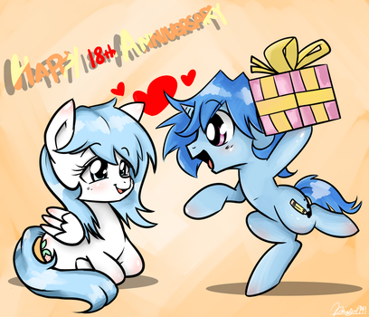 Happy 18th Anniversary to my GF by Doggie999
