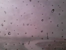 Rain drops on my window by WendiJoe
