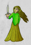 Female Elven Warrior by robbit10