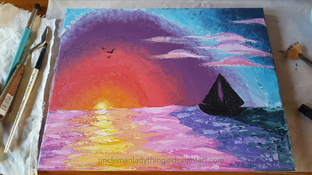 Sailboating At Sunset by CindyTrieu
