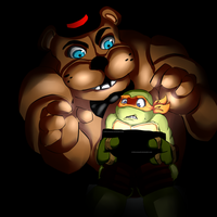 Freddy's right behind you Mikey! by XxLevanaxX
