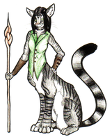 commish: tabby chakat by nerdydragon666