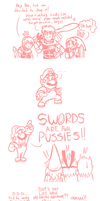 Smash Bros Comic - Mario and the Bishie Boys by JamesmanTheRegenold