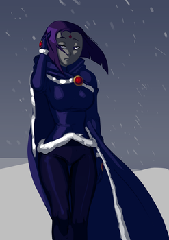 112913 Winter Raven by morganagod
