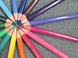 Colourful Pencils. by Katherinelion