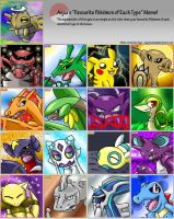 Fav Pokemon of Each Type Meme by Sonicbandicoot