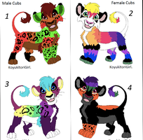 Detailed lion cub adoptables- Open 1 left! by tanta26