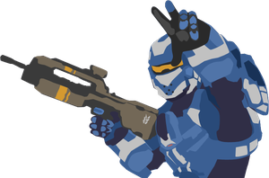 Halo 4: Blue Spartan Vector by iProtiige