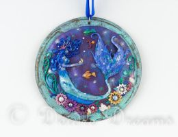 Sea Sprite Mermaid Art Pendant by DeidreDreams