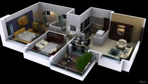 Cut View 2bhk by psd0503
