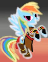 rainbow dash as the Monk by daylover1313