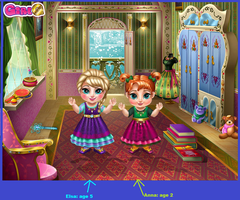 Early childhood of Anna and Elsa. by Smurfette123