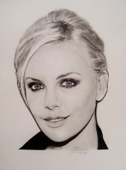 Charlize Theron by ArtZomb