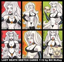 Lady Death sketch cards 7-12 by BillMcKay