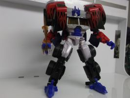 Action Master Optimus Prime mode from RTS Prime by forever-at-peace