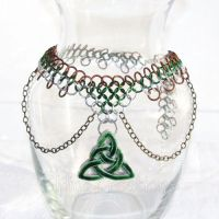 Celtic Green and Brown Necklace by merigreenleaf