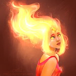 Flame Princess | Adventure Time + SpeedPaint by mcfle