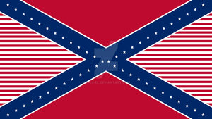 American-Confederate Flag Hybrid Final by Oseviel