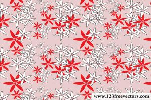 Vector Flower Pattern by 123freevectors