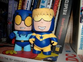 Booster Gold and Blue Beetle by Fan-Girl5