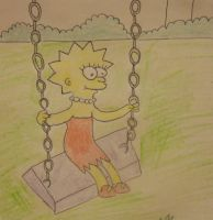 lisa simpson on the swing by naniloke