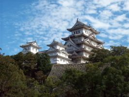 Himeji Castle by Red-Mary