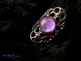 Elegance Armor Ring - Silver Purple Pink by LadyPirotessa