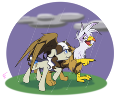 Lacey and Gilda by mithol