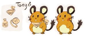 Tony the Dedenne by sweating