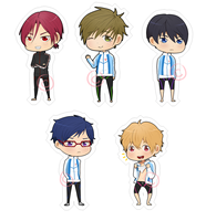 Free! Iwatobi Swim Club Stickers by Kay-land