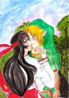 Link and Tomoe by Crystal-Dream