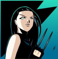 X-23 portrait colored by spushan