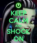 Frankie Stein Keep Calm poster by DarkRoseDiamond123