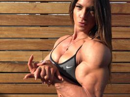 Anastasia Papoutsaki Muscle Morph by Turbo99